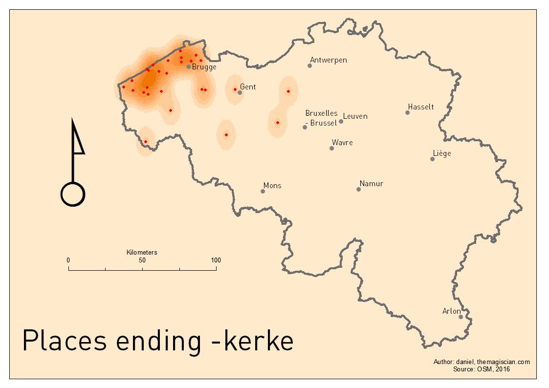 KERKE places