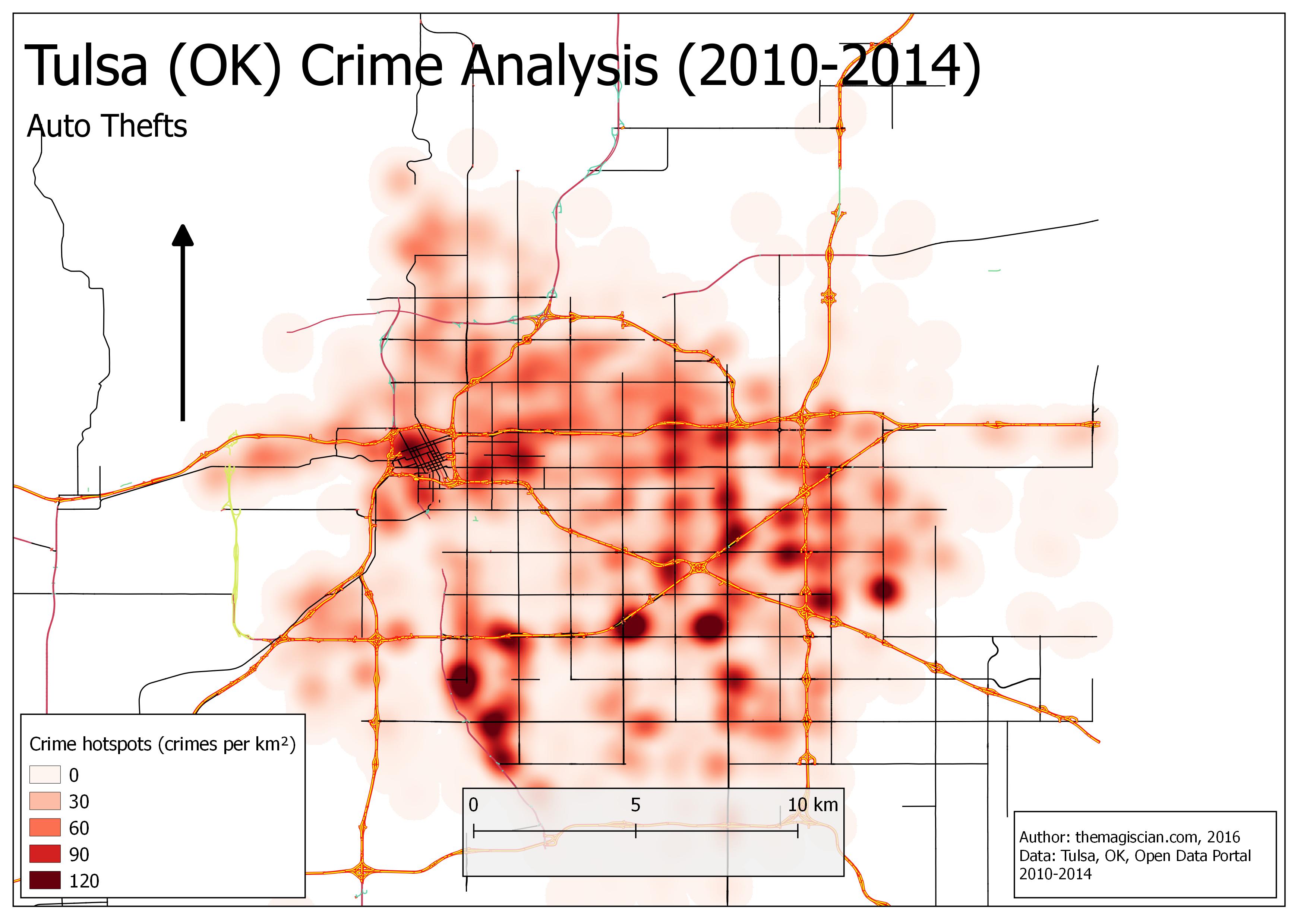 Auto thefts Hotspots (2010-2014)