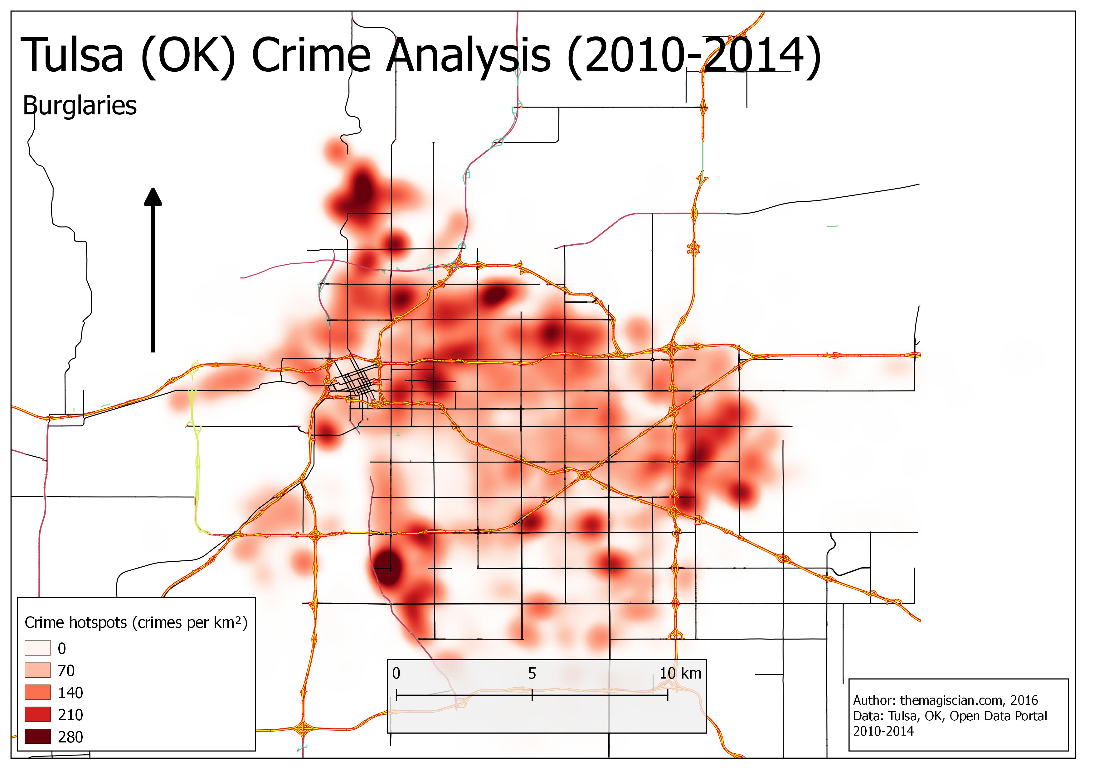 Burglaries Hotspots (2010-2014)