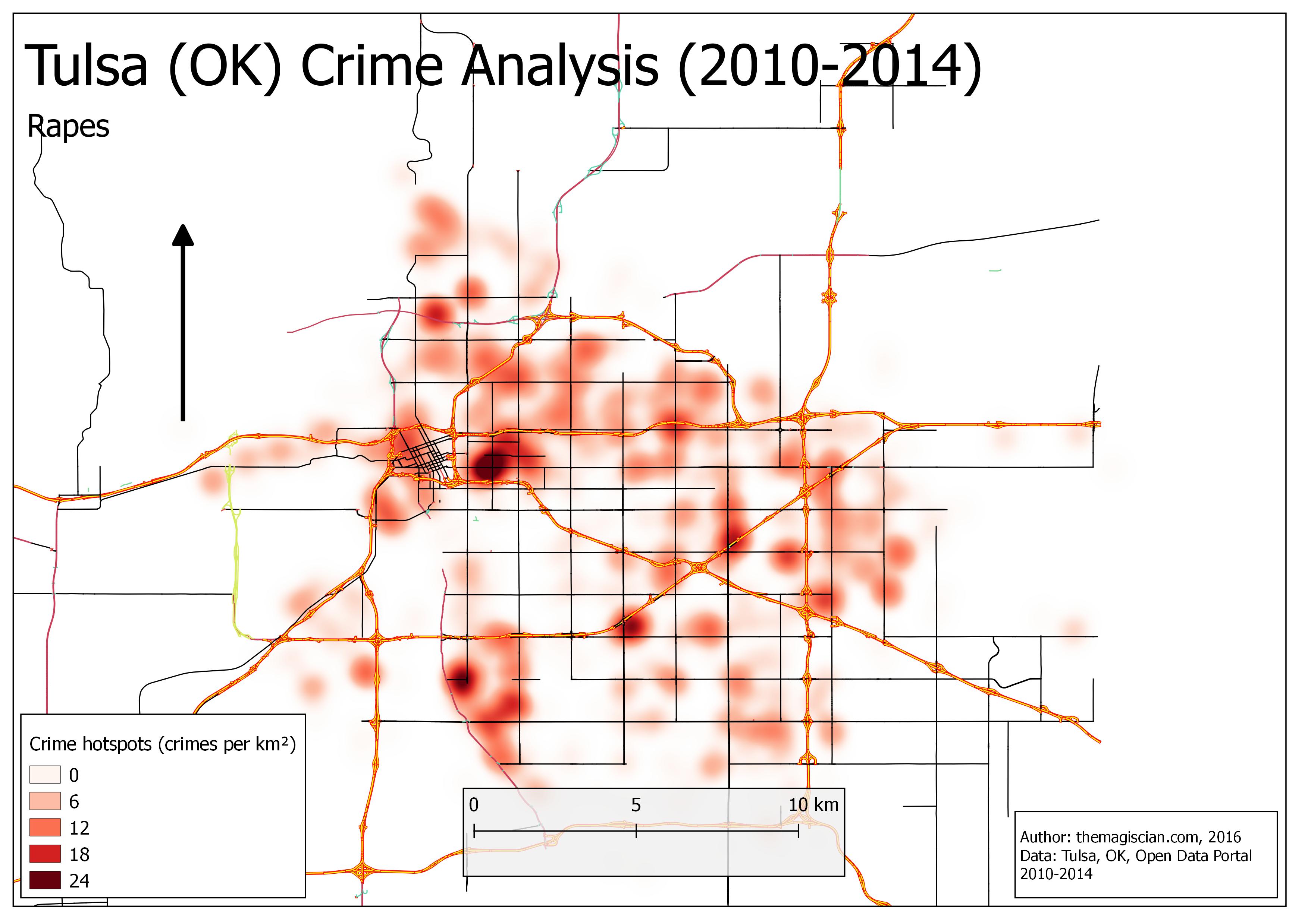 Rapes Hotspots (2010-2014)