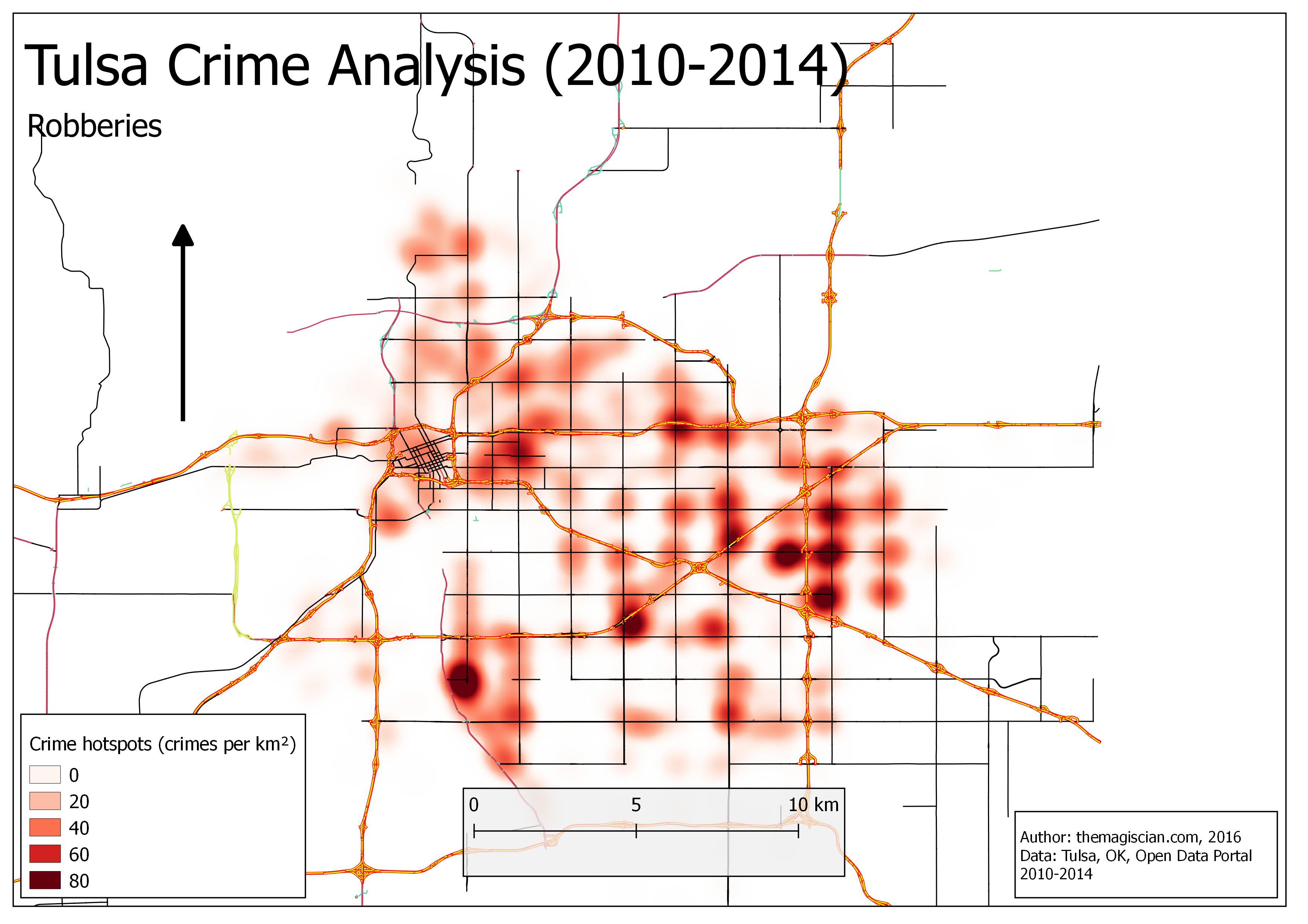 Robberies Hotspots (2010-2014)