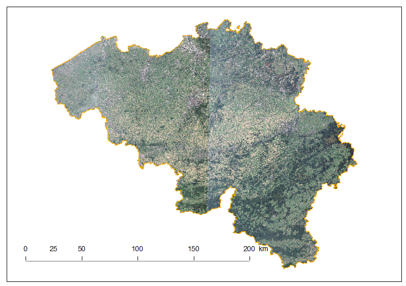 Whole Belgium Mosaic using Sentinel-2 images